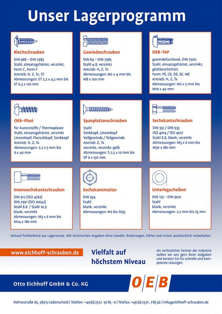 Flyer Lagerprogramm Schrauben